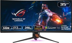 ASUS PG35VQ 35 inch ultrawide 200Hz 1440p gaming monitor
