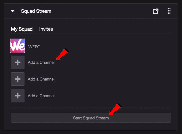 How to squad stream