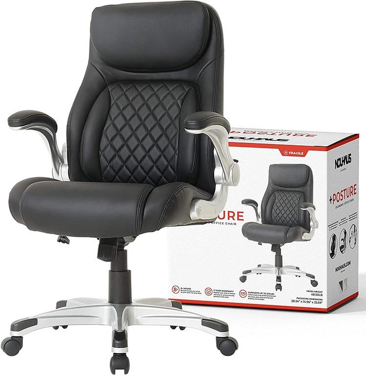 NOUHAUS Posture Ergonomic PU Leather Office Chair