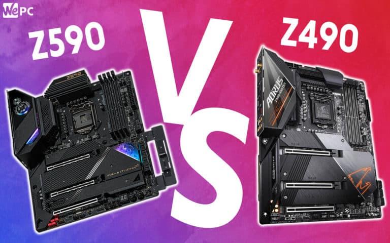 WePC z590 VS z490 template