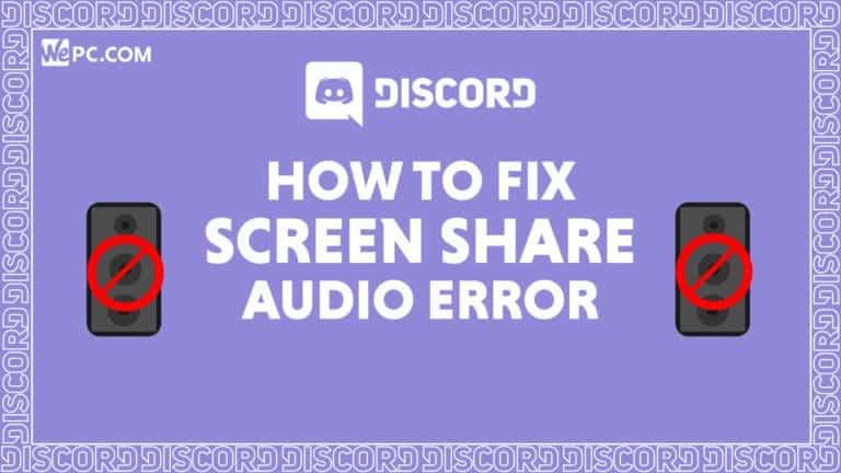 WePC Discord audio error 01