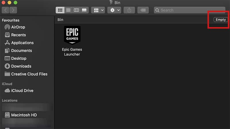 Uninstall Epic Games Launcher 2