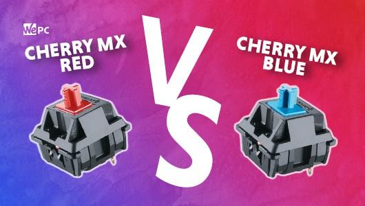 WePC CHERRY MX RED VS CHERRY MX BLUE