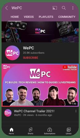 WePC Social Youtube 1