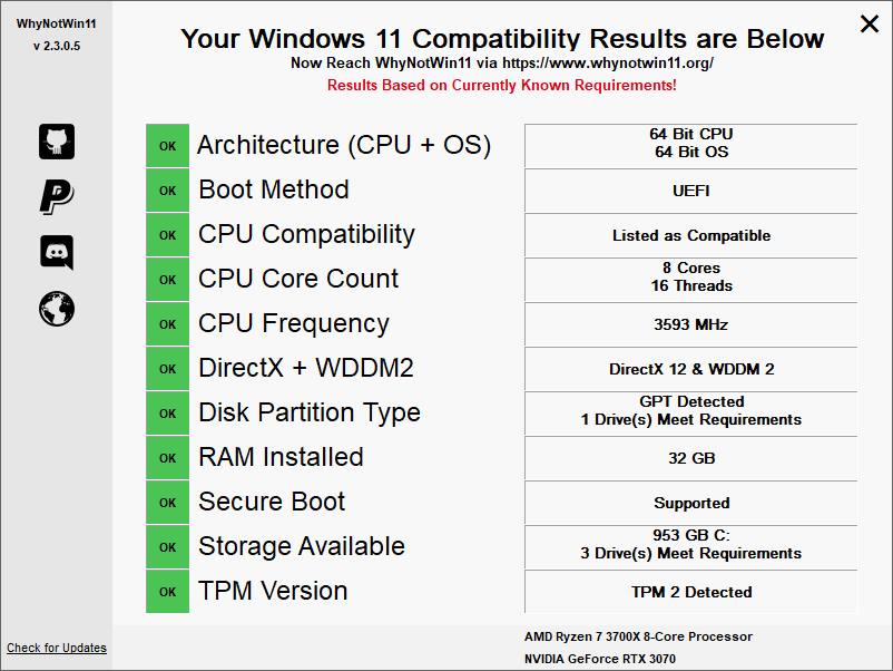 windpws 11 comp TPM enabled