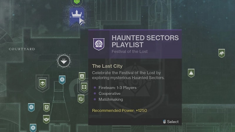 where are haunted lost sectors